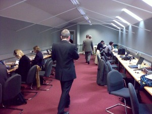 The press room where journalists spend more time than expected at the Global Irish Economic Forum