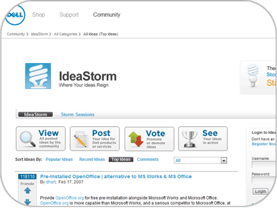 Social Commerce - Ideastorm